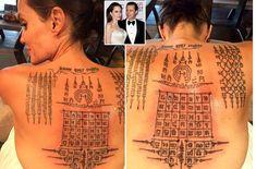 See The Incredible Tattoos Thai Monk Gave Angelina Jolie 'Binding Her' To Brad Pitt