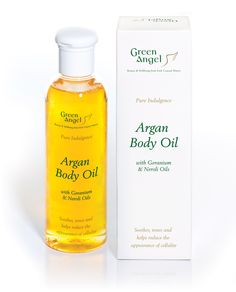 Green Angel Argan body oil is a sensational product enriched with Lavender, Geranium and Neroli essential oils giving it a beautifully relaxing sensual aroma.  This natural and ingenious combination leaves dry and lifeless skin toned and hydrated with an improved sensation of radiance.