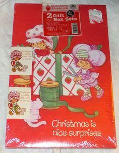 NIP Vintage 1982 Strawberry Shortcake 2 Christmas Gift Boxes & Cards SEALED    eBay