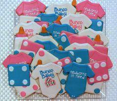 Bunco Baby Sugar Cookies Sweet17Cookies.Etsy.com