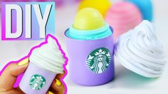DIY STARBUCKS EOS - Make your own STARBUCKS Lip Balm! TRYING THIS!!!!! IT LOOKS REALLY SIMPLE!!!!