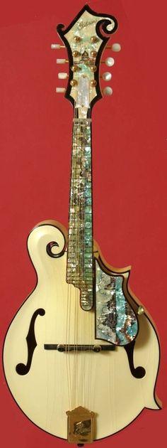 frettedchordophones:  Fancy Gibson Mandolin  =Lardys Chordophone of the day - a year ago --- https://www.pinterest.com/lardyfatboy/