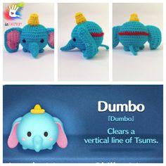Tsum Tsum Dumbo Pattern by uDezignCrafts on Etsy