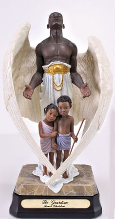 """This brings me a sense of comfort after the indescribable horror of yesterday.  Bless those little ones and their families, and the rest of the world, too.  I think we all share the pain that this senseless act has wrought.  The name of this sculpture is """"The Guardian"""" by Thomas Blackshear. I hope he'll overlook my sharing it, just this once."""