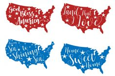 4th of July svg From sea to shining sea Land that I love God Bless America svg…