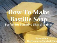 Buttermilk Bastille Baby Soap Bar Recipe » The Homestead Survival