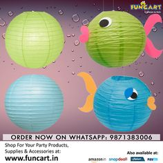 Whether you're hosting your event indoors or outdoors, make sure these beautiful round paper lanterns are part of your decor! Shop Now: www.funcart.in #Lanterns #Decoration
