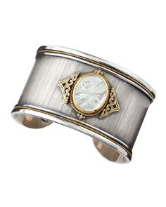 Konstantino Carved Mother-of-Pearl Bracelet from the Athena Collection