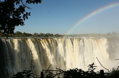 Incredible image taken of the iconic Victoria Falls yesterday in Zimbabwe.