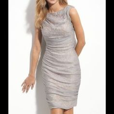 Tadashi Shoji Dresses & Skirts - Tadashi Shoji Ruched Chiffon Cocktail Dress.