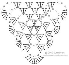 I got it in my head to make some crochet bunting. I tried quite a few different crochet triangles, there is a nice assortment of them on the interwebs. Crochet Diagram, Crochet Chart, Love Crochet, Crochet Motif, Beautiful Crochet, Diy Crochet, Crochet Flowers, Diagram Chart, Crochet Bunting