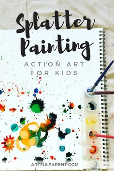 Splatter painting is a favorite action art activity for kids of all ages! Here are splatter painting tips and tricks plus ideas for what to do with the art.