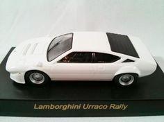 1/64 Japan Kyosho Mini Race CAR Die-cast Italy Lamborghini Urraco Rally White figure