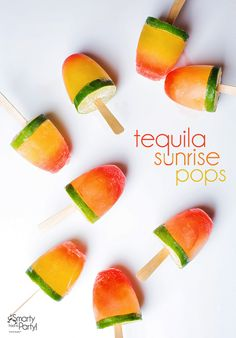 How to make Tequila Sunrise Popsicles! | Smarty Had A Party