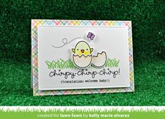 chirpy chirp chirp; Baby card | Lawn Fawn