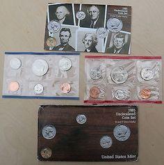 #coins 1985 P & D-Mint Uncirculated Set - 10 coins please retweet