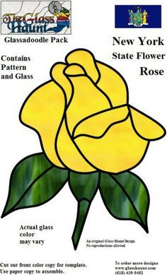 rose stained glass pattern | New York Rose GH Glassadoodle.jpg