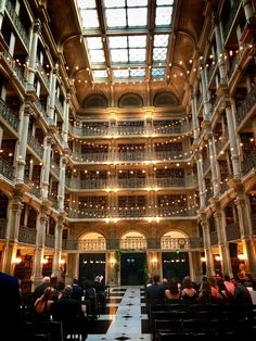 Peabody Library, Chemist, Any Book, Life Goals, Baltimore, Touring, Dream Wedding, Places To Visit, Street View