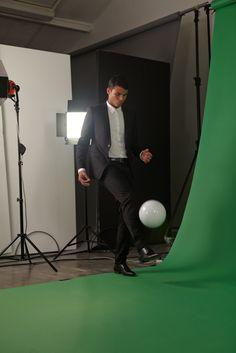 Thiago Silva nos bastidores da campanha Sucesso além do jogo.
