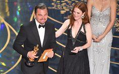 Leonardo DiCaprio wins the Oscar for Best Actor