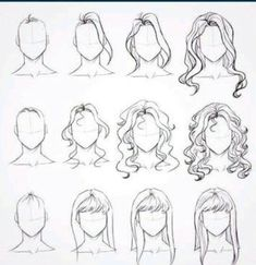 Drawing hair tutorial cartoon design reference 19 New Ideas – Drawing Techniques Pencil Art Drawings, Art Drawings Sketches, Easy Drawings, Drawings Of Hair, Body Sketches, Girl Drawings, Drawing Techniques, Drawing Tips, Drawing Reference