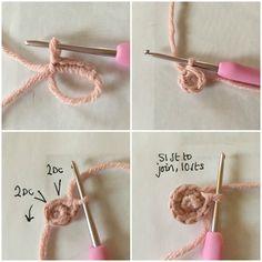 Creating a crochet star