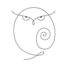 Line-Art Design of an Owl. Bird Drawings, Doodle Drawings, Doodle Art, Wire Crafts, Rock Crafts, Owl Home Decor, Outline Art, Easy Drawings For Kids, Rock Painting Designs