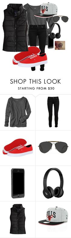 """""""Defining swag"""" by shadysqueen ❤ liked on Polyvore featuring Gap, Paige Denim, Vans, CÉLINE, rag & bone, Beats by Dr. Dre, American Eagle Outfitters and Mitchell & Ness"""