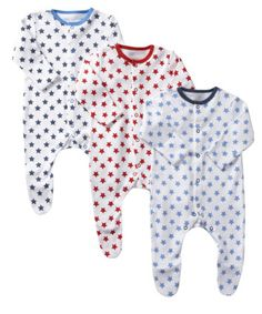 Mothercare Star Sleepsuit – 3 Pack