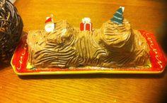Papilles on/off: Bûche de Noël à la crème de moka et au mascarpone au thermomix ou sans