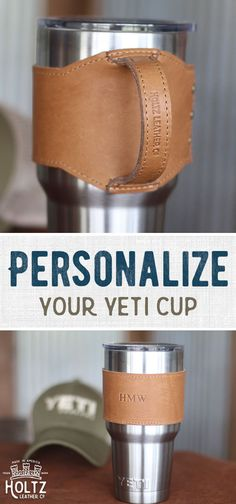 Carry your Yeti Tumbler in style with our Rocket City Yeti Wrap with Handle Cool Gifts, Diy Gifts, Holiday Gifts, Leather Projects, Leather Working, Teacher Gifts, Gifts For Him, Cool Stuff, Ideas