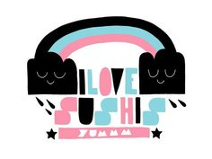 I Love Sushis Tee by Shirt.Woot.com