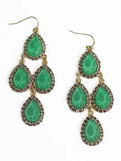 Verdant Soiree Earrings-sparkly fashion earrings, sparkly emerald earrings, trendy sparkly earrings, unique sparkly earrings, pretty emerald earrings