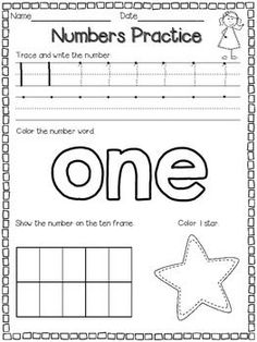 Trace Numbers 1-20 - In these six number tracing worksheets kids ...