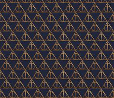 Ravenclaw Hallows fabric by angelsm9 on Spoonflower - custom fabric