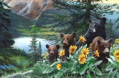 New Discoveries by Kevin Daniel Bear Print 36x24