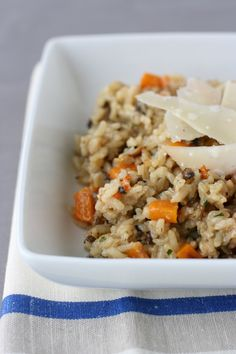 Roasted Butternut Squash Risotto with Mushrooms & Chives
