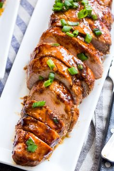 Paleo Pork Tenderloin with Teriyaki Sauce {Whole30} | The Paleo Running Momma