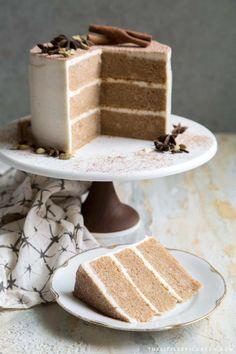 Chai Layer Cake - The Little Epicurean Tea Cakes, Cupcake Cakes, Cupcakes, Baking Recipes, Cake Recipes, Dessert Recipes, Köstliche Desserts, Delicious Desserts, Chai Cake Recipe