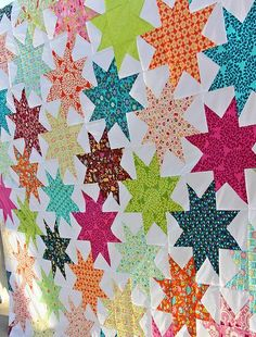 Star quilt tutorial. This may be a great way to use my Loulouthi fat quarters. With linen?