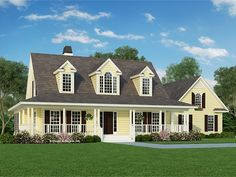 Eplans Farmhouse House Plan - Family Farmhouse - 1991 Square Feet and 3 Bedrooms from Eplans - House Plan Code HWEPL07041