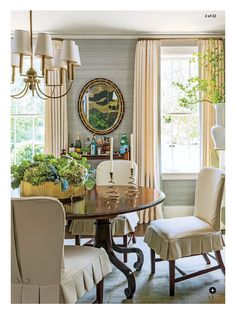 In Southern Living this month. I love the blue grass cloth.