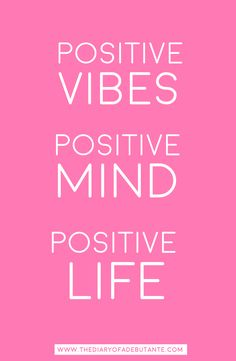 Positive vibes. Positive mind. Positive life. | All About Perspective: A Cynic's Guide to Thinking Positively by blogger Stephanie Ziajka from Diary of a Debutante