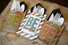 eighteen25: BE thankful utensil holders