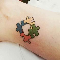 Autism tattoos are very common nowadays, and there are many reasons for this, but the main one is because more people are becoming aware of this condition. Autism is a neurological disorder with no known cure, and it affects speech… Continue Reading → Autism Awareness Tattoo, Autism Tattoos, Puzzle Pieces, Full Body Tattoo, Body Art Tattoos, Tatoos, Unique Tattoos, Small Tattoos, Floral Tattoos