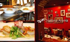 Trattoria Aroma - Traditional Regional Italian Restaurant serving up brick oven pizzas and authentic, rustic Italian cuisine.  The atmosphere has a European feel-upscale yet homey and casual.  An extensive all-Italian wine list features premium wine selections by the glass to complement distinctive seafood and veal dishes.  Visit http://www.thearomagroup.com/buffalo/ for menus.