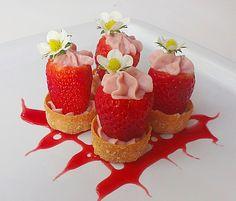 Fresas rellenas de su crema al Mascarpone