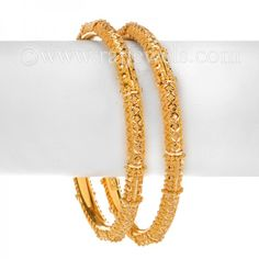 Attractive #textured design #bangles, crafted in 22 karat yellow #gold, available in a set of two in an easy slip-on style. - See more at: https://www.rajjewels.com/women-s-22-k-yellow-gold-bangle-set-5531.html#sthash.V4KiMdJy.dpuf