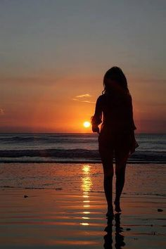 ..Sunset En la playa: