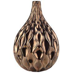 A&B Home Modern Wave Gold Vase - Set Of 2